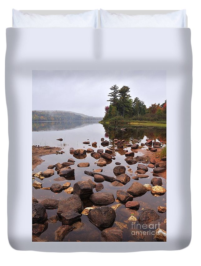 Autumn Duvet Cover featuring the photograph Tranquility by Terri Gostola