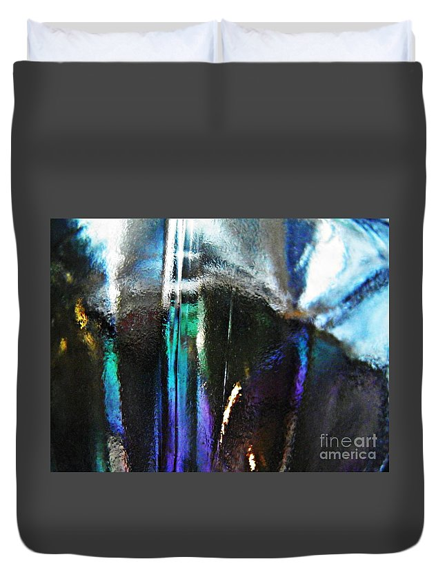 Abstract Duvet Cover featuring the photograph Transparency 4 by Sarah Loft