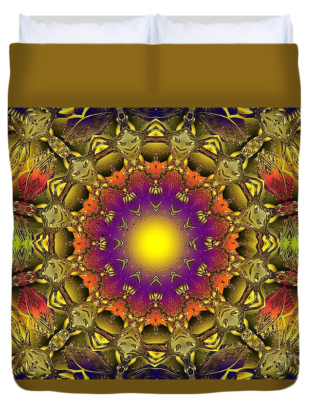 Colorful Duvet Cover featuring the digital art Traveling Home by Robert Orinski