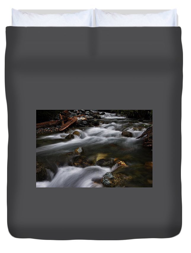 Streams Duvet Cover featuring the photograph Treasured by Taylor Howe