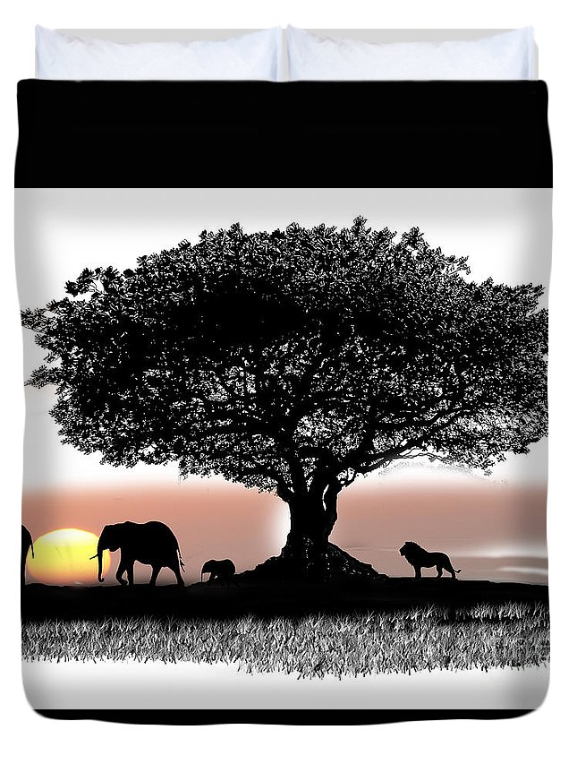 Old Duvet Cover featuring the drawing Tree Art by Carl Gouveia
