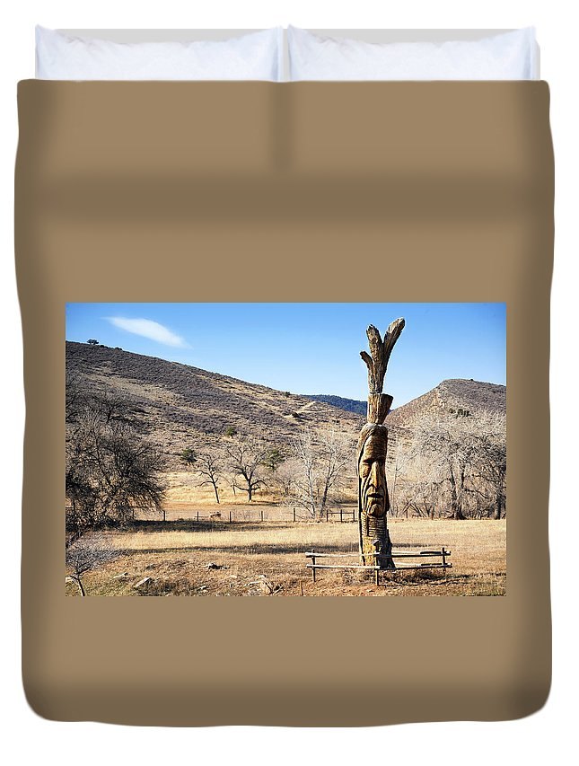 Tree Duvet Cover featuring the photograph Tree Art by Marilyn Hunt