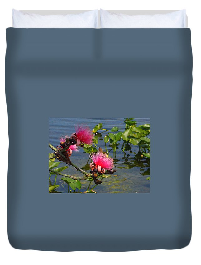 Pink Duvet Cover featuring the photograph Tree Blossoms by Peggy King