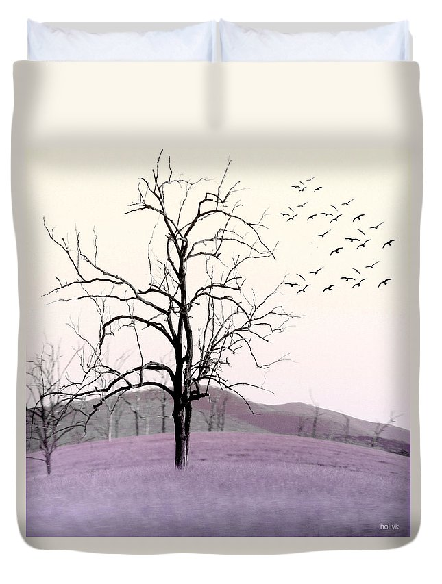 Tree Duvet Cover featuring the photograph Tree Change by Holly Kempe