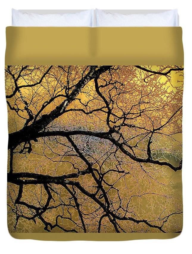Scenic Duvet Cover featuring the photograph Tree Fantasy 7 by Lee Santa