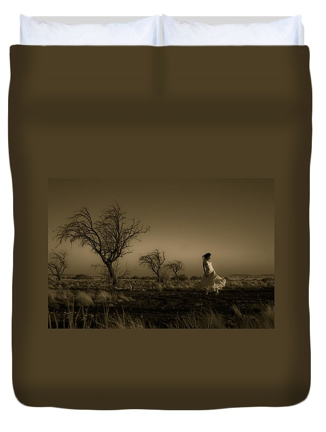 Woman Duvet Cover featuring the photograph Tree Harmony by Scott Sawyer
