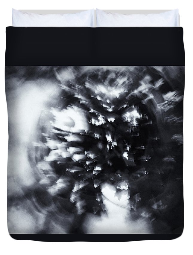 Abstract Duvet Cover featuring the photograph Tree Implosion by Scott Wyatt