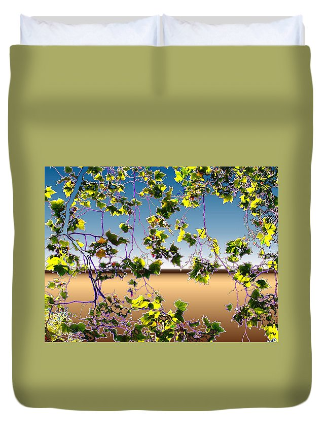 Tree Duvet Cover featuring the photograph Tree Leaves by Tim Allen