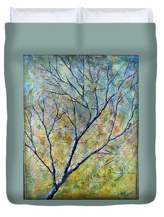 Duvet Cover featuring the painting Tree Number One by Tami Booher
