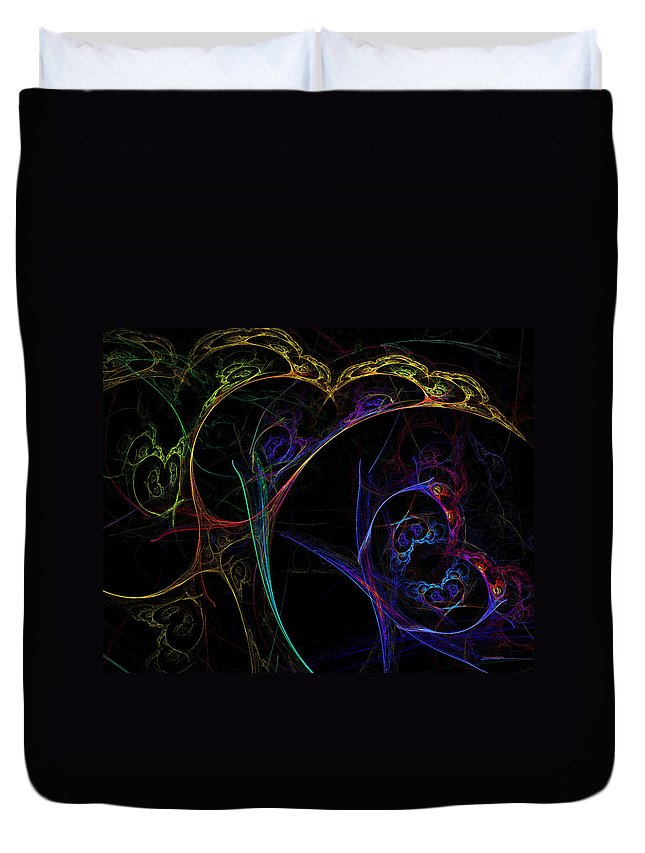 Tree Duvet Cover featuring the digital art Tree Of Life by Claire Bull