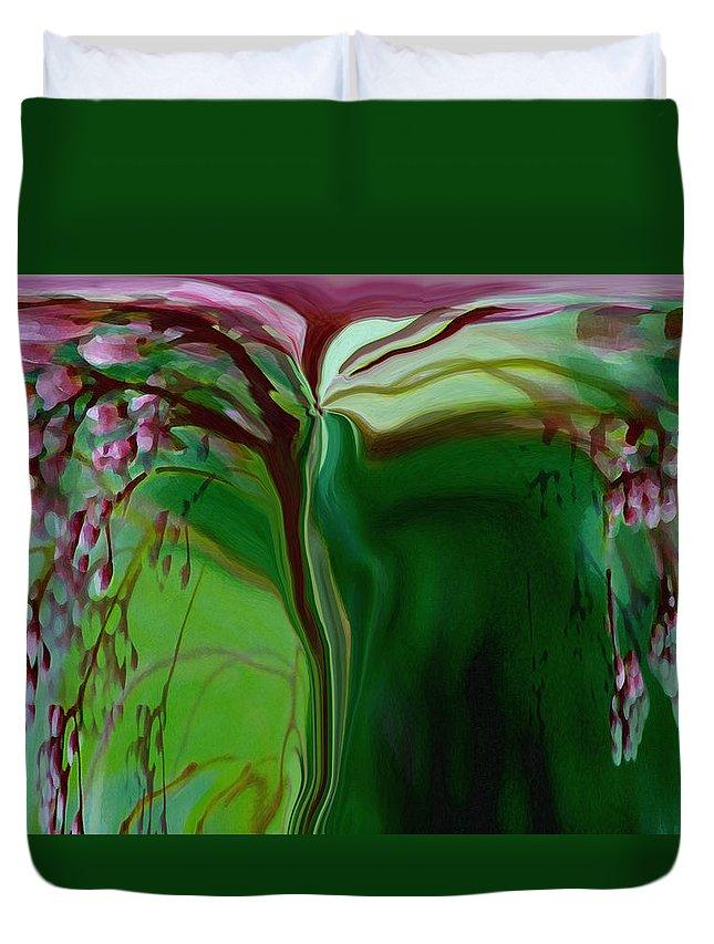 Tree Life Art Duvet Cover featuring the digital art Tree Of Life by Linda Sannuti