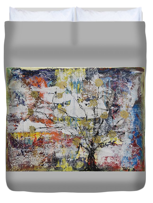 Tree Duvet Cover featuring the painting Tree Of Life by Taly Bar