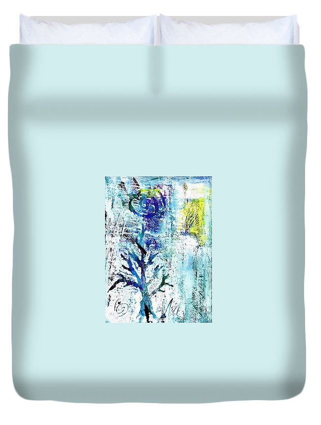 Tree Duvet Cover featuring the painting Tree Of Life by Wayne Potrafka