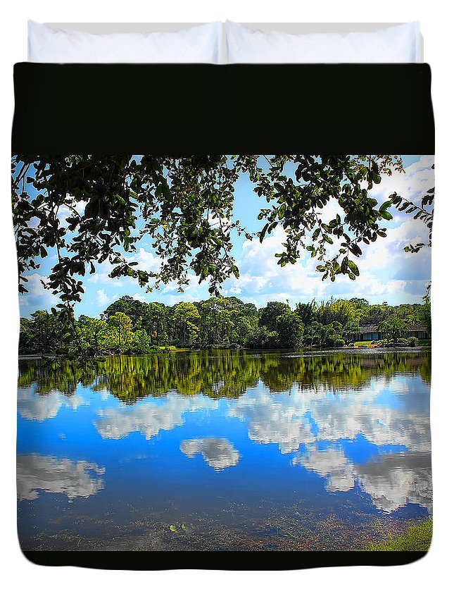 Park Duvet Cover featuring the photograph Tree Series 44 by Carlos Diaz