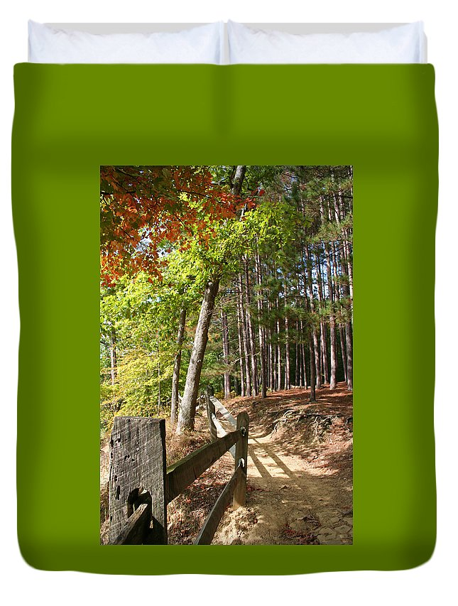Tree Duvet Cover featuring the photograph Tree Trail by Margie Wildblood