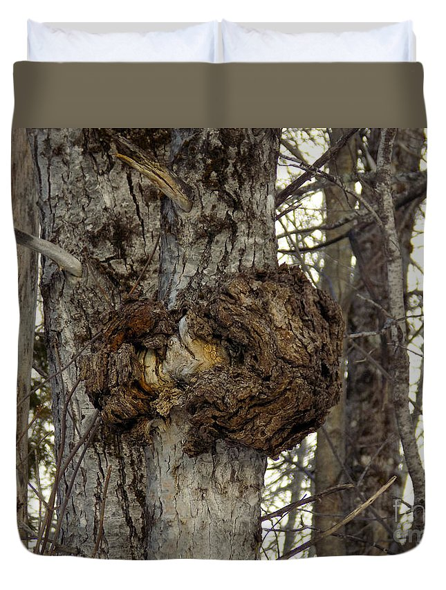 Tree Duvet Cover featuring the photograph Tree Wart by William Tasker