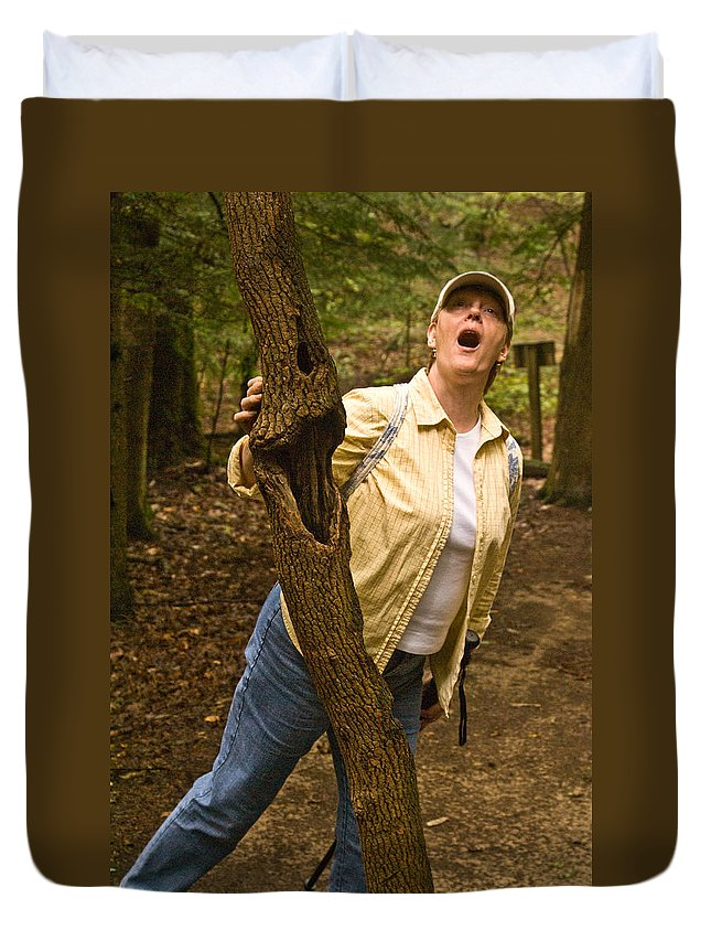 Trees Duvet Cover featuring the photograph Trees Can Sing Too by Douglas Barnett