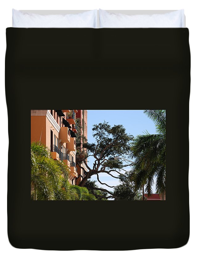 Architecture Duvet Cover featuring the photograph Trees In Space by Rob Hans