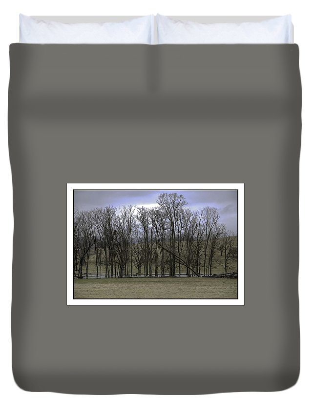 Duvet Cover featuring the photograph Trees In Winter by R Thomas Berner