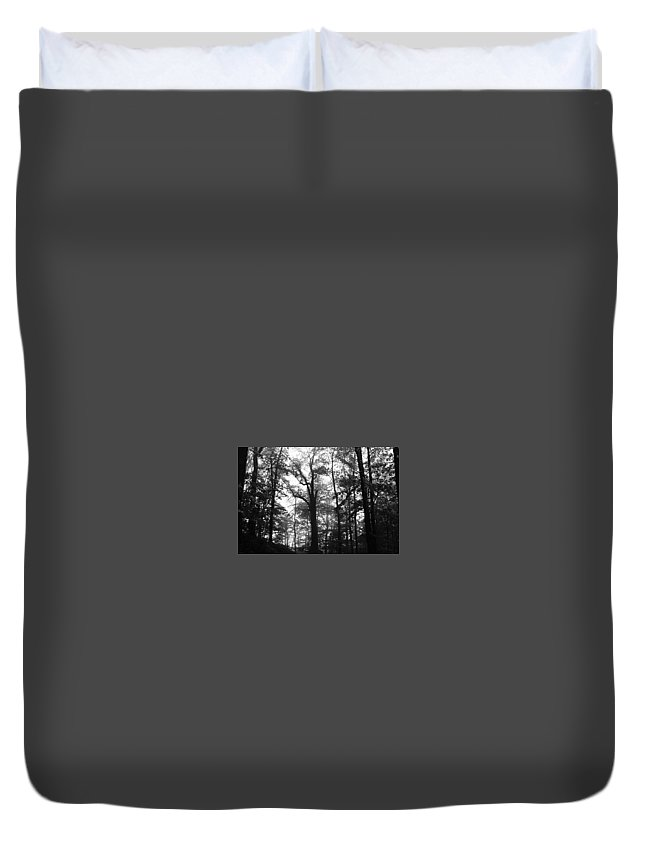 Tree Duvet Cover featuring the photograph Trees by Jesse Plummer