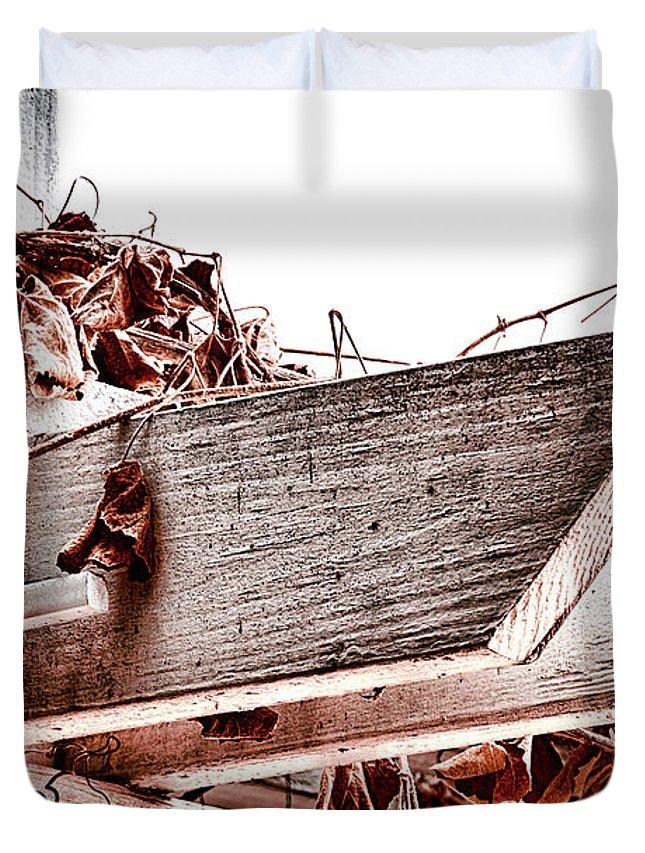 Trellis Duvet Cover featuring the photograph Trellis by Camille Lopez