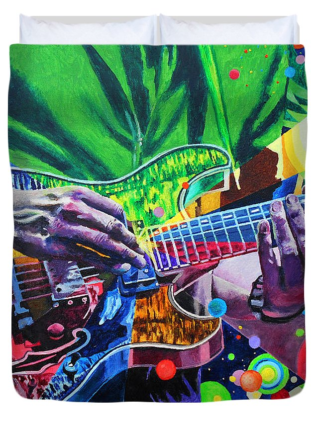 Trey Anastasio 4 Duvet Cover featuring the painting Trey Anastasio 4 by Kevin J Cooper Artwork
