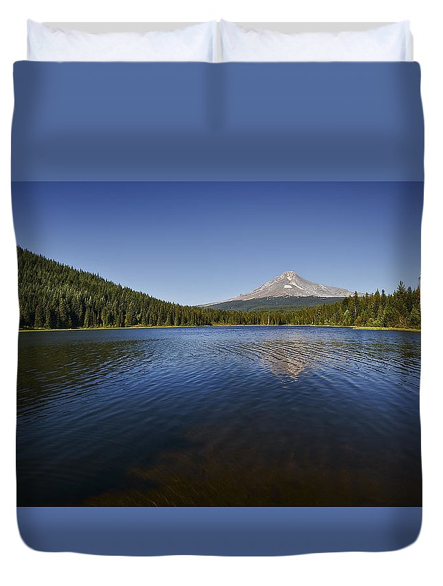 Water Duvet Cover featuring the photograph Trillium In The Fall by John Christopher