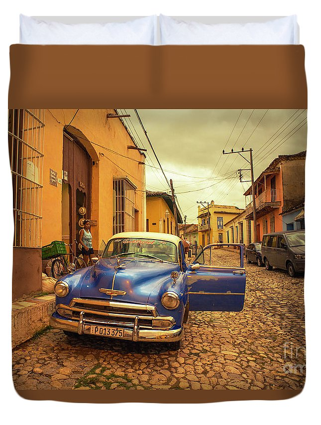 Trinidad Duvet Cover featuring the photograph Trinidad Chevy Blues by Rob Hawkins