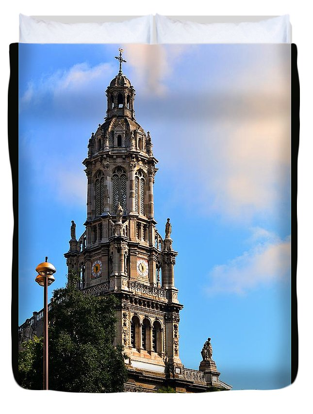 Church Duvet Cover featuring the photograph Trinity Church by Valerie Dauce