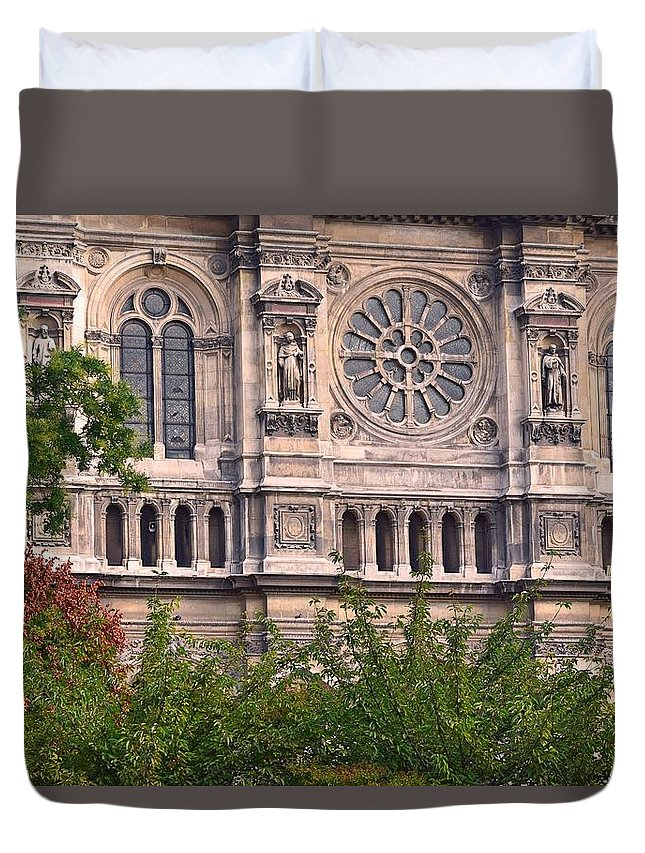 Church Duvet Cover featuring the photograph Trinity by Valerie Dauce
