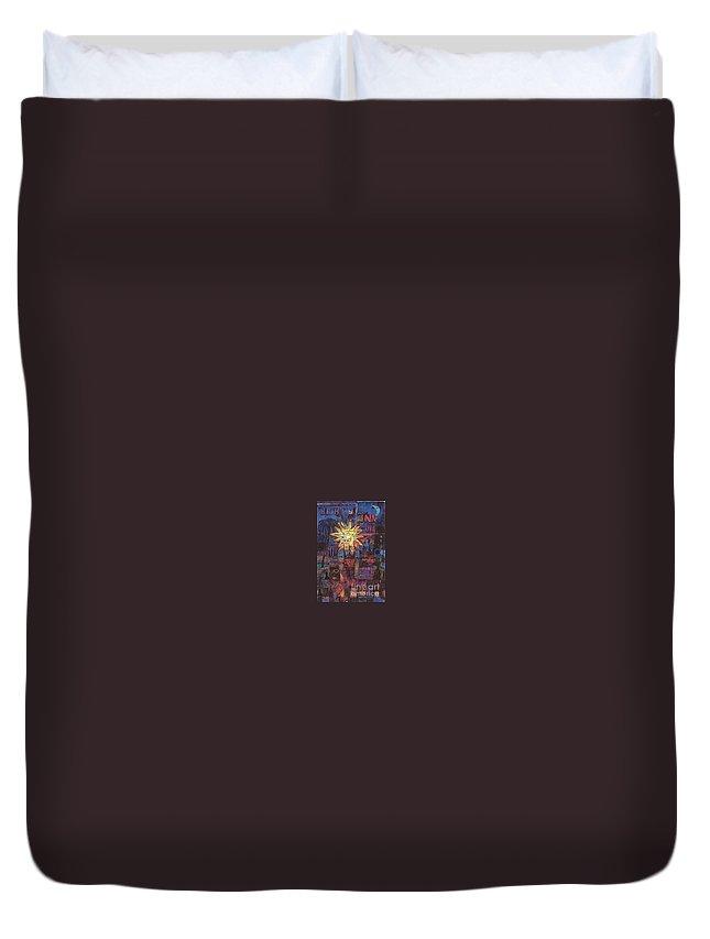Three Kings Duvet Cover featuring the digital art Triple Kings II by Andy Mercer