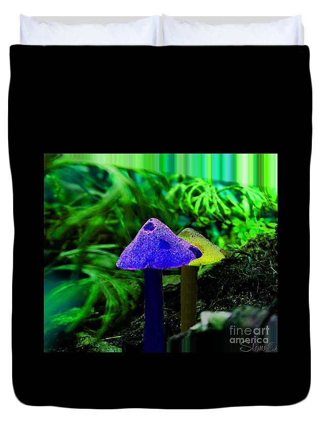 Mushroom Duvet Cover featuring the photograph Trippy Shroom by September Stone