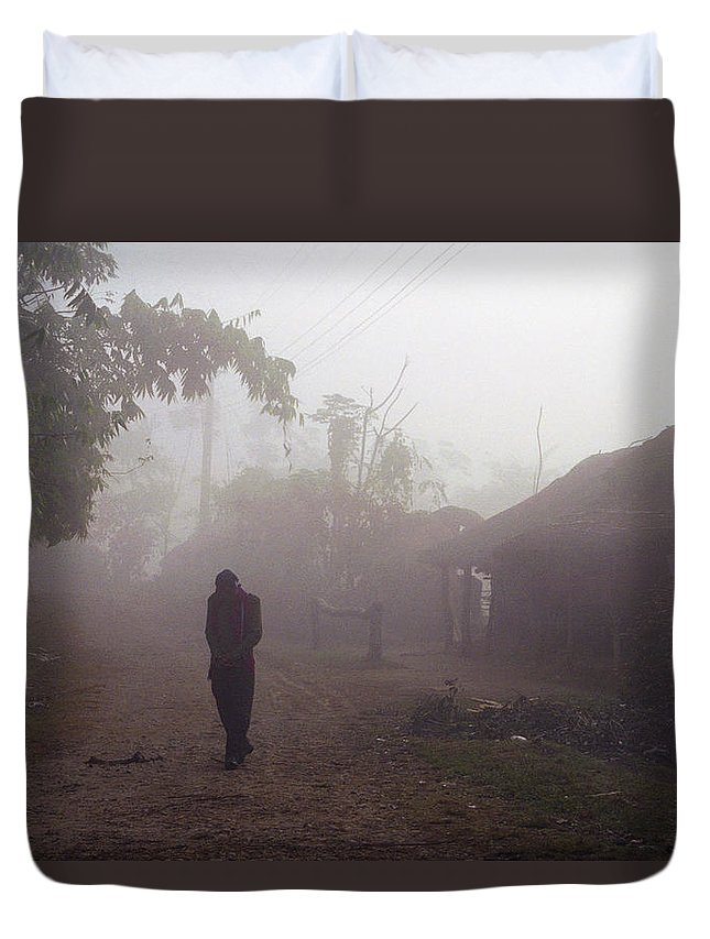 Nepal Duvet Cover featuring the photograph Tristesse by Patrick Klauss