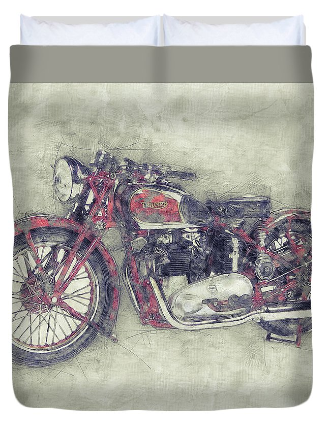 Triumph Speed Twin 1 1937 Vintage Motorcycle Poster Automotive