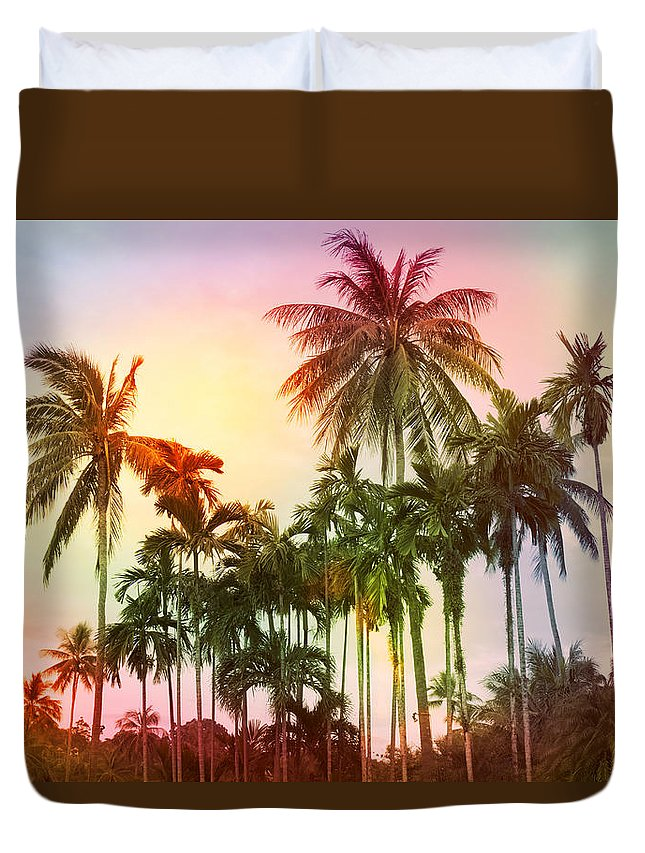 Tropical Duvet Cover featuring the photograph Tropical 11 by Mark Ashkenazi