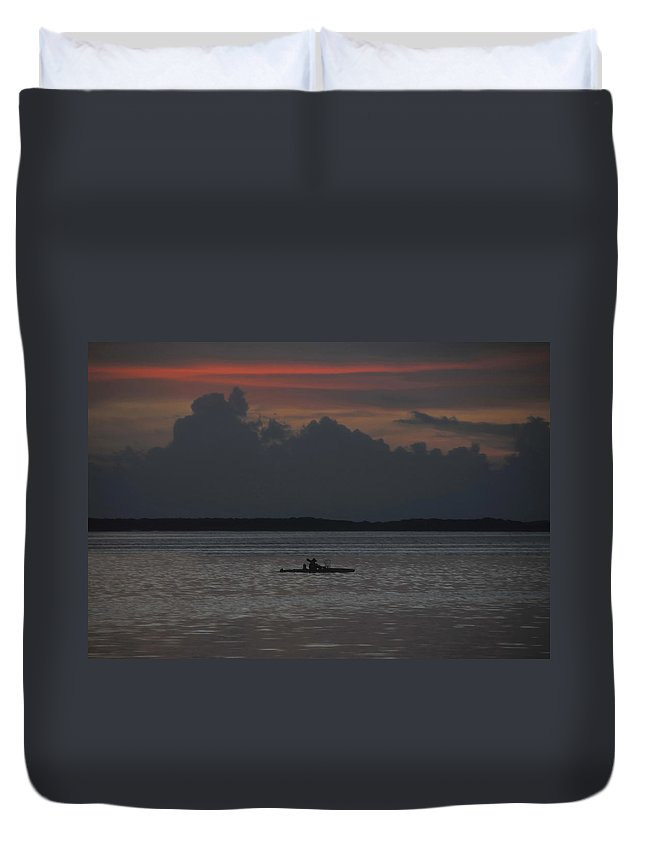 Fishing Duvet Cover featuring the photograph Tropical Adventure by David Lee Thompson
