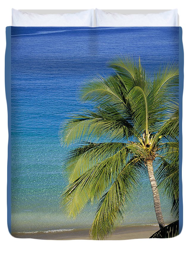 Afternoon Duvet Cover featuring the photograph Tropical Beach by Dana Edmunds - Printscapes