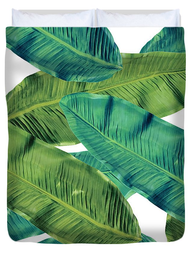 Summer Duvet Cover featuring the digital art Tropical Colors 2 by Mark Ashkenazi