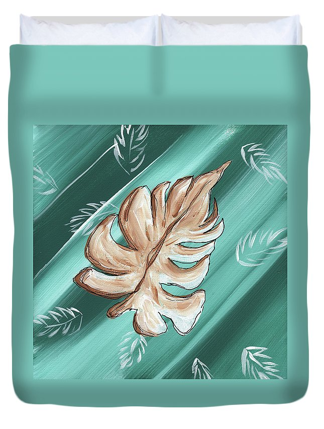 Wall Duvet Cover featuring the painting Tropical Dance 1 By Madart by Megan Duncanson