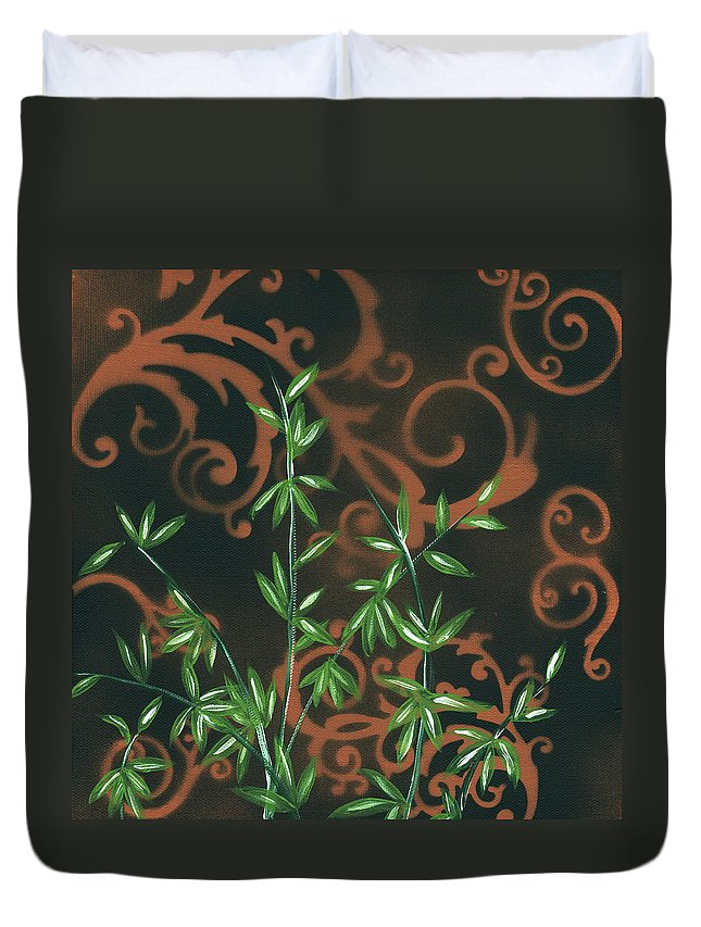 Wall Duvet Cover featuring the painting Tropical Dance 2 By Madart by Megan Duncanson