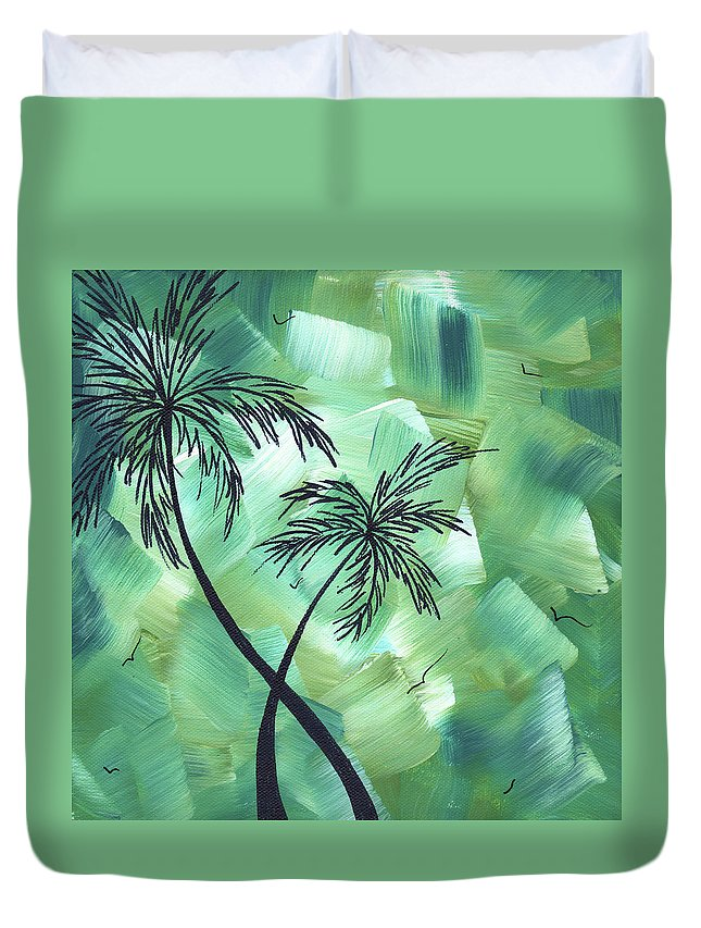 Wall Duvet Cover featuring the painting Tropical Dance 3 By Madart by Megan Duncanson