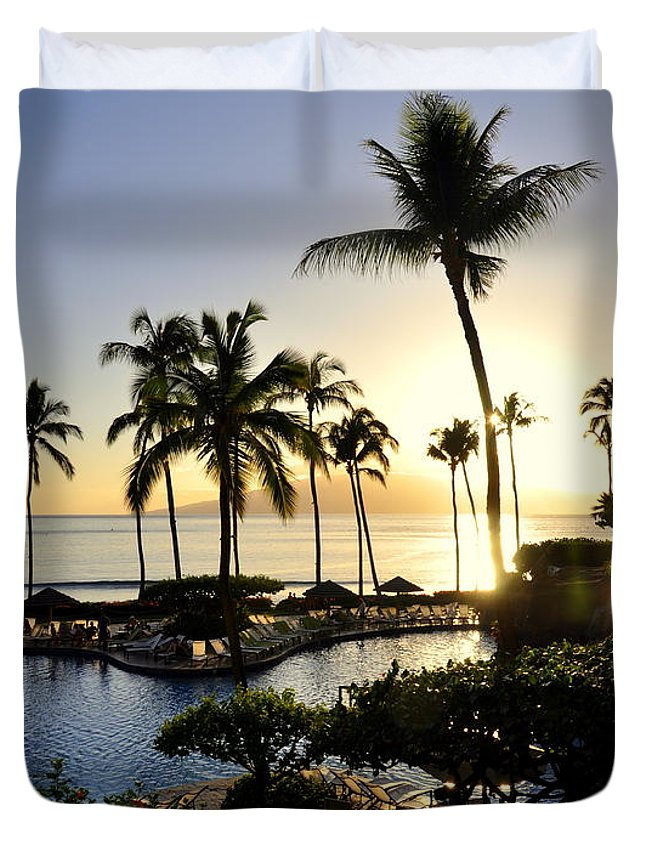 Maui Duvet Cover featuring the photograph Tropical Dream by Rosy Kueng