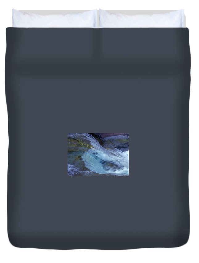Nature Duvet Cover featuring the photograph Tropical Flowing Waters by Kerryn Madsen- Pietsch