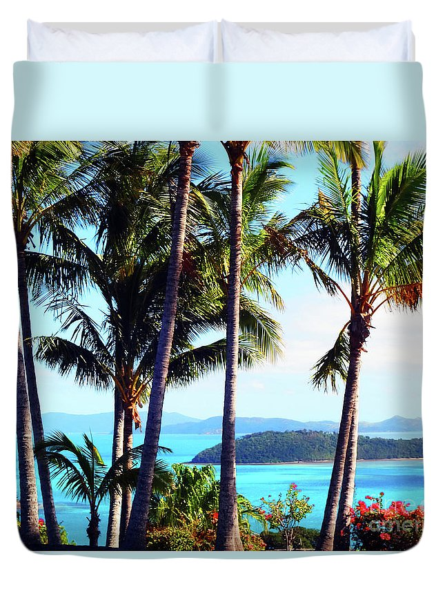Healing Art Duvet Cover featuring the photograph Tropical Paradise by Eluv