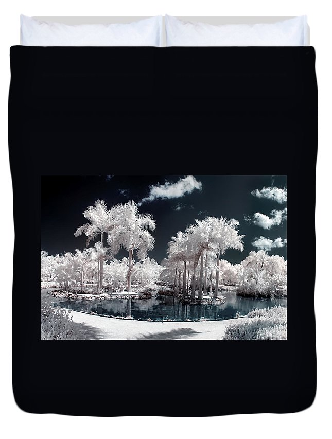3scape Photos Duvet Cover featuring the photograph Tropical Paradise Infrared by Adam Romanowicz