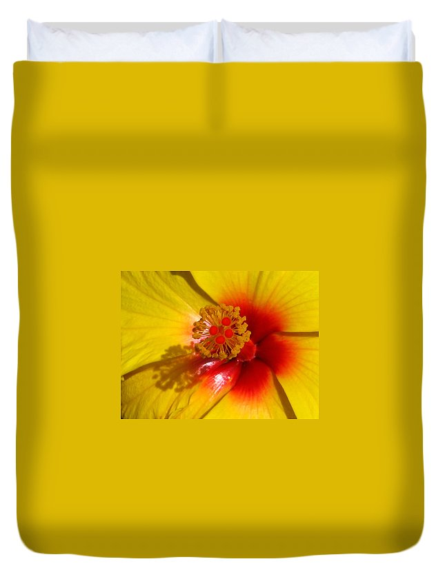 Hibiscus Duvet Cover featuring the photograph Tropical Treat by Marla McFall