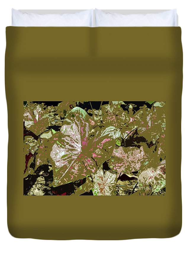 Tropical Duvet Cover featuring the photograph Tropicals by David Lee Thompson