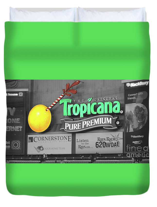 Tropicana Duvet Cover featuring the photograph Tropicana Field by Jost Houk