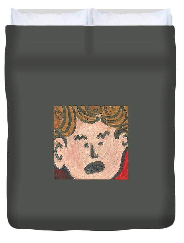 Bananas Duvet Cover featuring the painting Trump Is Bananas by Janelle Dey