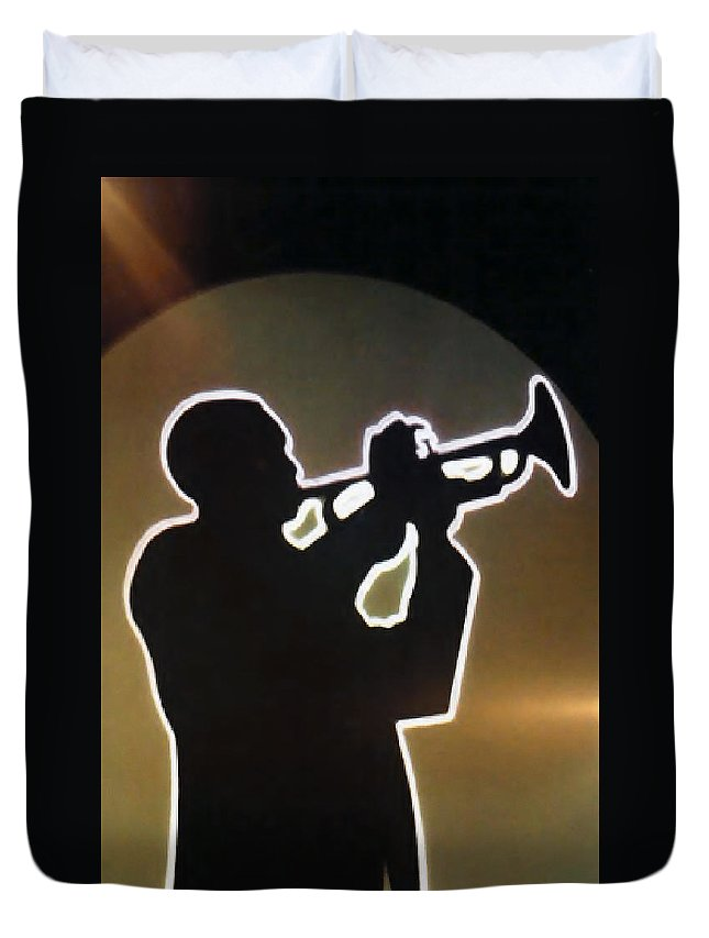Classic Duvet Cover featuring the photograph Trumpet - Classic Jazz Music All Night Long by Christine Till